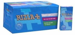 100-GENUINE-RIZLA-ULTRA-SLIM-Filter-5-7mm-Tobacco-Cigarette-Tips-Smoking-Thin