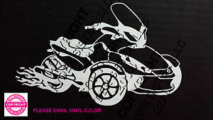 CAN-AM SPYDER ST LIMITED WITH FLAMES WINDOW DECAL//BUMPER STICKER 13 colors