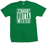 Straight Outta Mexico T-shirt - Cpt Chicano La Raza Compton Parody - All Colors
