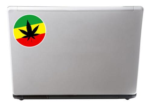 2 x Rasta Weed Jamaica Vinyl Sticker iPad Laptop Travel Marijuana Cannabis #4758
