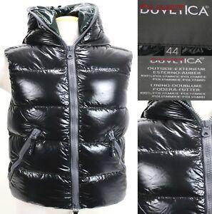 Duvetica-Women-039-s-450-Goose-Down-Hooded-Winter-Vest-Size-44-Medium-Black