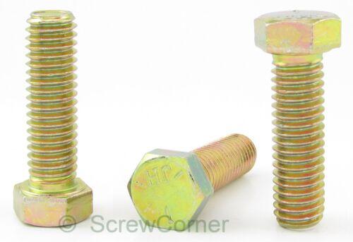 Sechskantschraube 7//16-14 UNC x 1 1//4 Grd.5 gelb verzinkt 8.8 Hex Head Tap Bolt