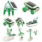 Creative DIY 6 IN 1 Educational Learning Power Solar Robot Kit Children Toy 2015