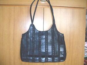 Ladies-Girls-Shopper-school-black-handbag