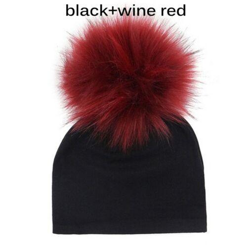 Pompom Toddler Winter Warm  Beanie  Baby Cotton Hat  Newborn Fur Ball Caps