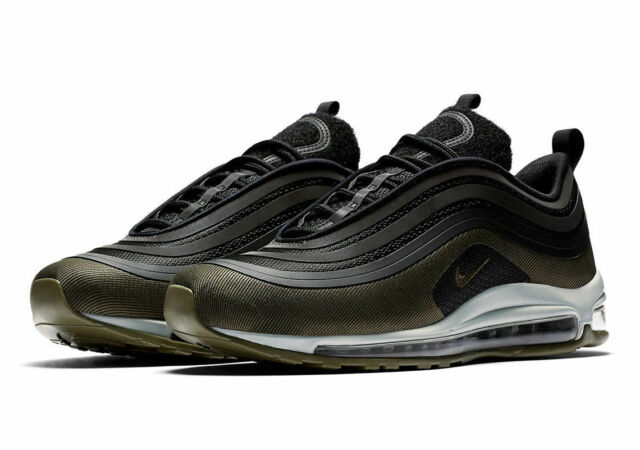50e6da04 Nike Air Max 97 UL '17 Hal Mens Ah9945-001 Black Olive Running Shoes Size  13 for sale online | eBay