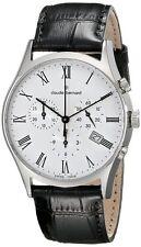 Claude Bernard 10218 3 BR Mens Watch Swiss Made White Dial Classic Chronograph