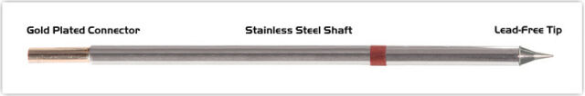 NEW Thermaltronics M8CS152 Metcal STTC-822 Soldering Tip Conical Sharp 0.4mm