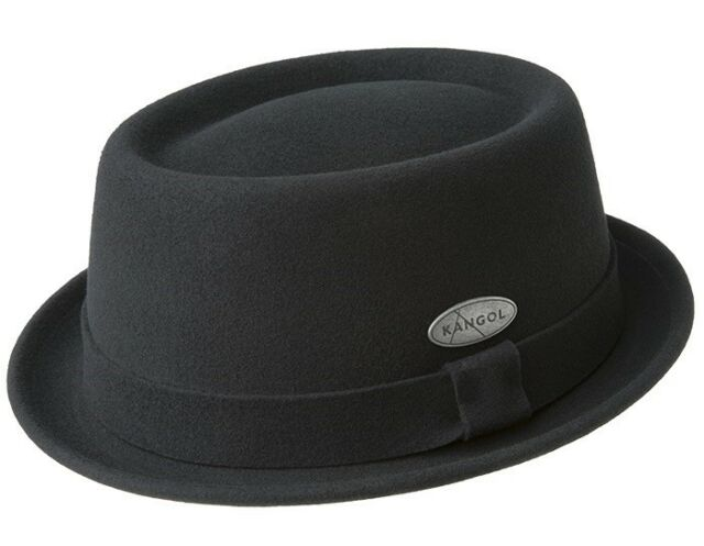 Kangol Lite Felt Pork Pie Hat Black Porkpie Trilby Duck Pond Wool Felt New 99a1dab8dab6