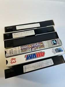 Lot Of 6 VHS Tapes Sold As Used Blank Pre-recorded