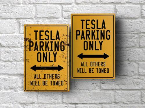 Тесла парковки знак для гаража пещерного человека домашний