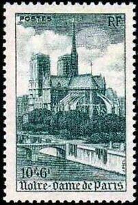 FRANCE-STAMP-YVERT-776-SCOTT-B217-034-CATHEDRAL-NOTRE-DAME-PARIS-10F-6F-034-MNH-VVF