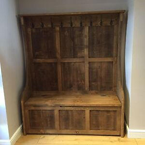 Image Is Loading 5 Ft Rustic High Back Style Monks Bench