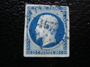 FRANCE-timbre-yvert-et-tellier-n-14Aa-obl-A6-stamp-french-Z