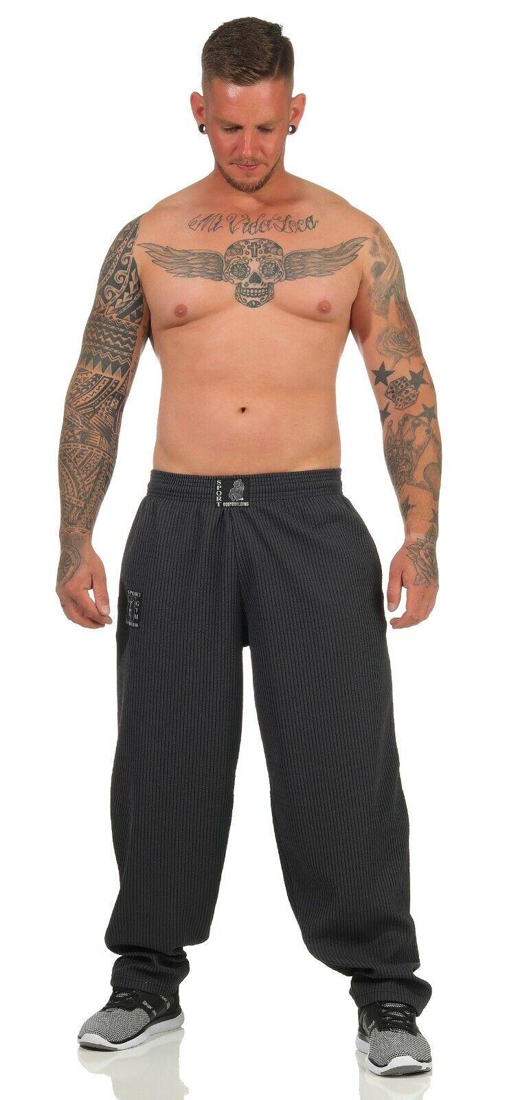 Bodybuildinghose Totenkopf Jogginghose Pitbull Sporthose Pumperhose Gr.M-12XL