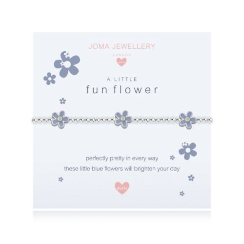 Joma Jewellery Childrens a little FUN FLOWER silver bracelet With Gift Bag /& Tag