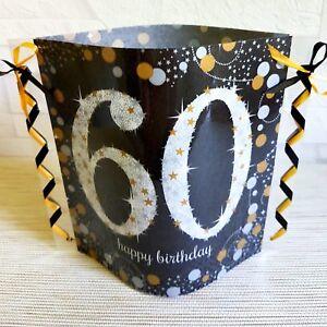 Tischdeko Windlicht Aus Servietten Happy Birthday 60 Geburtstag