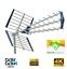 miniatura 1 - Antenna Kit Tv Digitale Terrestre Esterna Alto Guadagno UHF DVB-T2 Direttiva