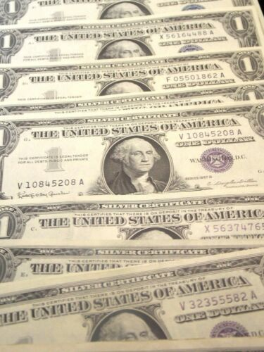 1957 $1 Silver Certificate Lot of 10 GEM UNC CU East Coast Coin /& Collectables
