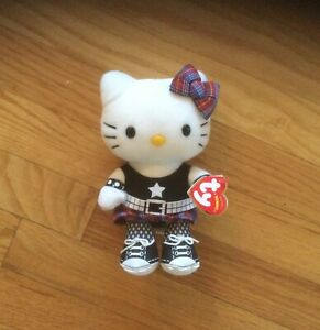 Ty Beanie Baby ~ HELLO KITTY ROCK (UK Exclusive) (6.5 Inch) MWMTs