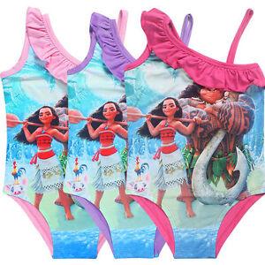 Image Is Loading New Girls Moana Swimming Bikini Costume Swimwear Swimsuit