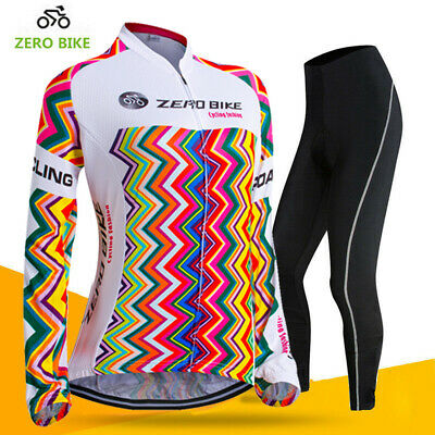 Women/'s racing cycling clothes jersey/&pant set long sleeve cycling ciclismo suit