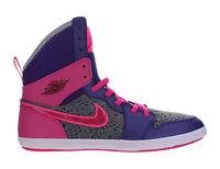 Girls Air Jordan 1 Skinny High Gs Electric Purple Raspberry Red Pink 602656-509