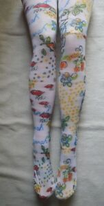 White-Kiss-Kiss-Pop-Art-Tights-S-M-opaque-Beautiful-Spring-Great-W-Shorts-1990s