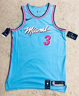 100 Authentic Nike Dwyane Wade Miami Heat Vice City Edition Authentic Jersey Ebay