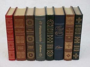 Lot-of-8-CHARLES-DICKENS-David-Copperfield-Great-Expectations-Easton-Press