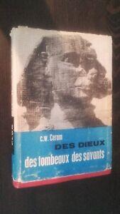 C-W-Ceram-Delle-Divinita-Tombe-Studiosi-1956-Plon-Stampe-Schede-ABE