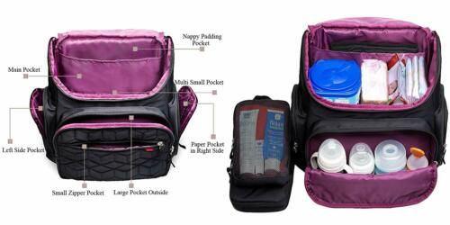 Nappy Changing Bag Backpack Nylon Waterproof Nappy Backpack With Changing Mat Gi