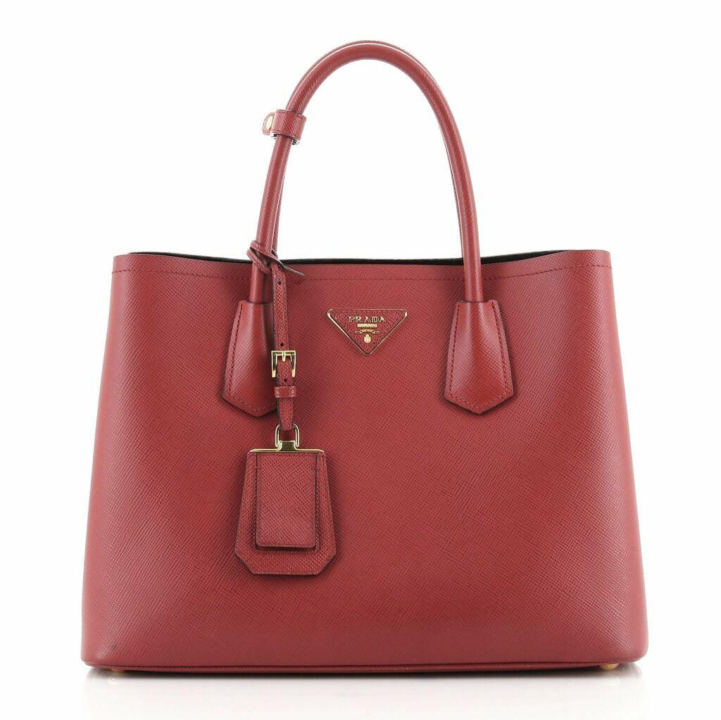 Prada Cuir Double Tote Saffiano Leather Medium    eBay