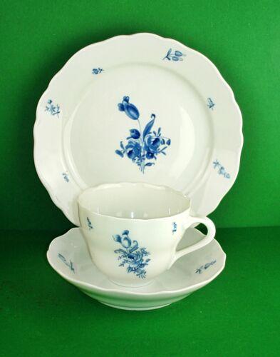 Hutschenreuther MariaTheresia deutsche Blume blau Kaffeegedeck 3 tlg.
