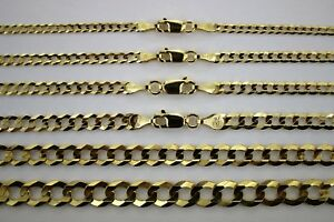 10K-SOLID-GOLD-CUBAN-LINK-CHAIN-NECKLACE-BRACELET-FOR-MEN-WOMEN-2mm-13mm-7-034-30-034