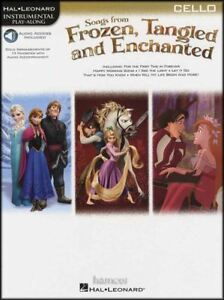Songs From Frozen, Embrouillées & Enchanted Cello Instrumental Play-along Music Book-afficher Le Titre D'origine