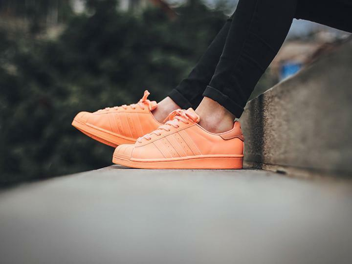 Adidas Orange Superstar Adicolour Sun Glow Orange Adidas UK Größes 4-9 825165