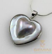 Perlenanhänger Mabe-Perle in Herzform