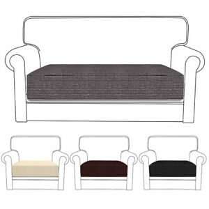 Replacement-Sofa-Seat-Cushion-Cover-Couch-Protector-Fabric-Stretchy-Slip-Home