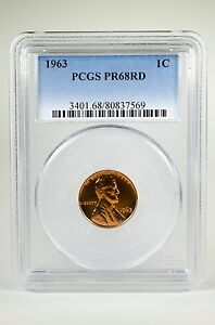PR68RD-1963-RED-LINCOLN-PENNY-PCGS-GRADED-1C-PROOF-COIN-LIBERTY-US-PR68-ONE-CENT