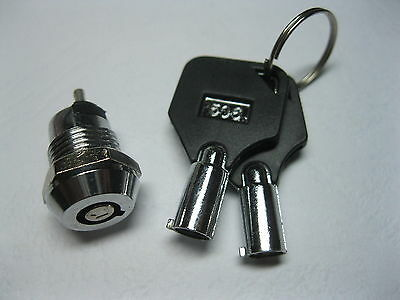 5pcs Key Ignition Switch ON//OFF Lock Key Switch Plastic Handle 10.5x19mm 506#