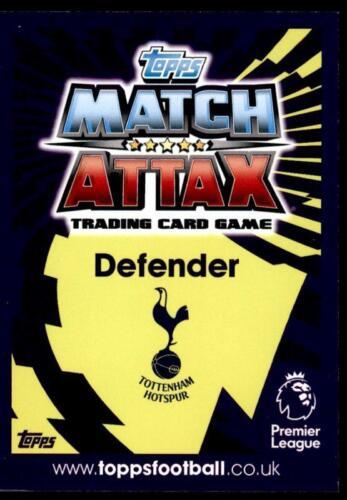 Match Attax 2016-2017 extra Kevin Wimmer Tottenham Hotspur base tarjeta no U57