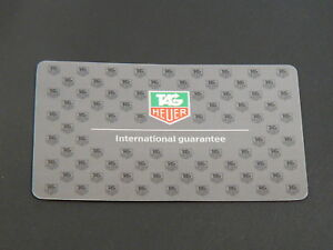 Orig-new-TAG-Heuer-blank-Guarantee-Card-Grey-color-1995-2005-for-collector-only