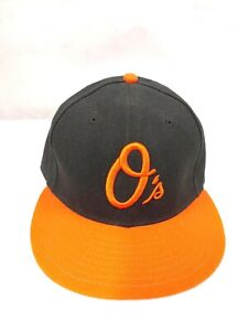 BLACK//ORANGE New Era MLB BALTIMORE ORIOLES 59FIFTY Fitted Hat