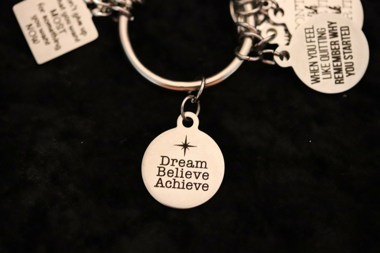 Dream Believe Achieve – Motivational Weight Loss Charm for Weight Watchers Ring s l1600