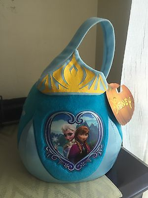 Disney Frozen Easter Or Halloween Basket Bag With Elsa And Anna And Snowflakes