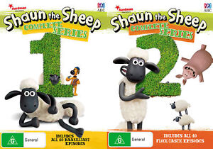 Shaun-the-Sheep-Season-1-2-First-Second-One-Two-Series-New-DVD-Region-4