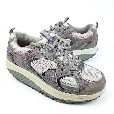 Details about Womens SKECHERS SHAPE UPS 11806 Gray & Purple Toning Walking Shoes SIZE 9 EU 39