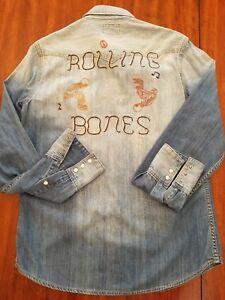 Religion Rolling ShirtMaat Bones True S85 Denim Heren Nieuw Western 4RLA35j