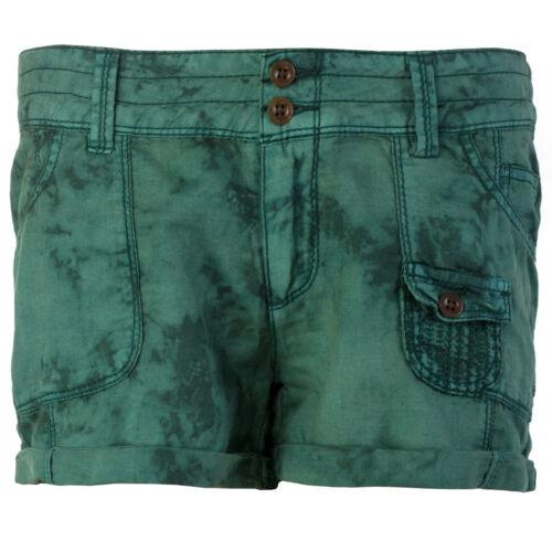 Khujo Damen Shorts Damenshorts Kurze Hose Batik Waschung 6 Taschen